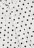 White polka-dot cotton shirt - Plan C