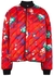 Floral-print quilted satin bomber jacket - Plan C