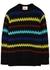 Black striped alpaca-blend jumper - Plan C
