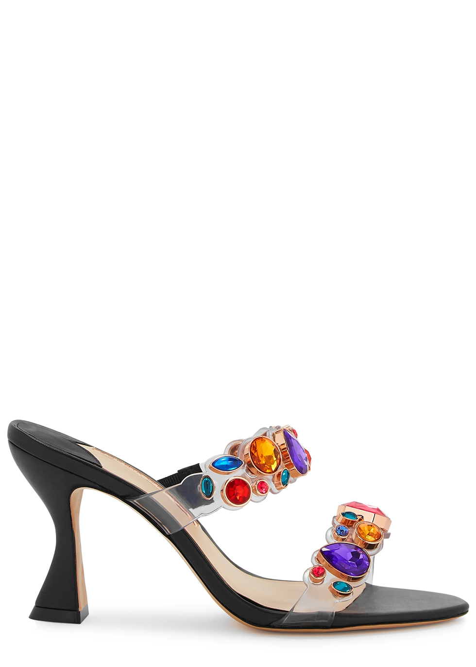 Ritzy 85 crystal-embellished mules