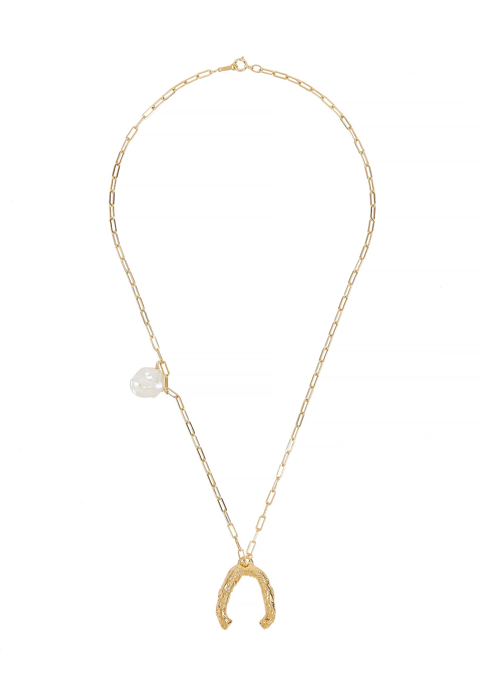 The Flashback River 24kt gold-plated necklace