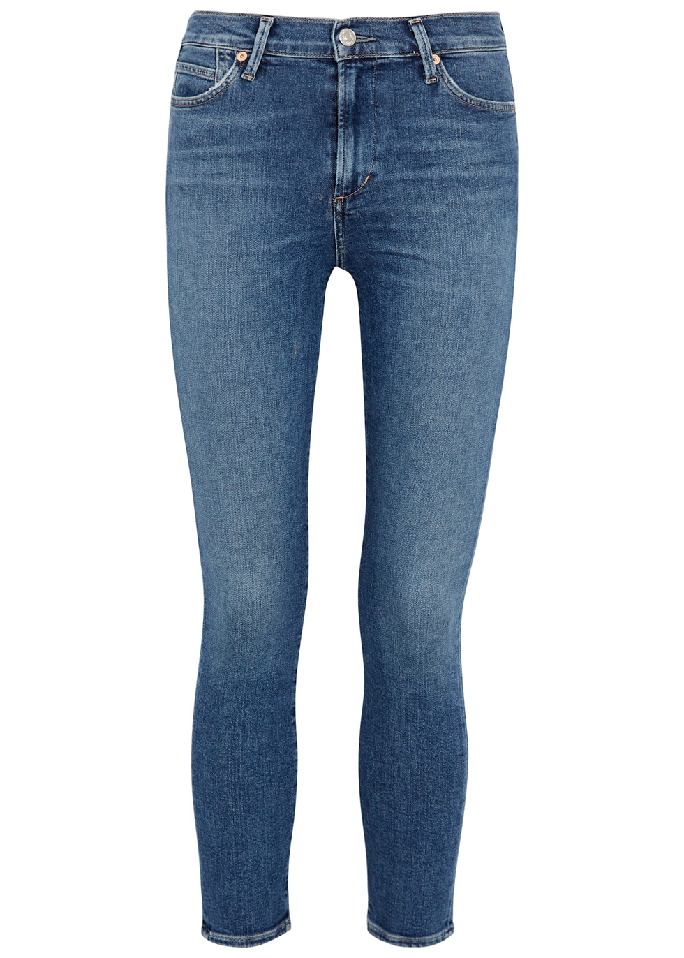 Rocket blue cropped skinny jeans