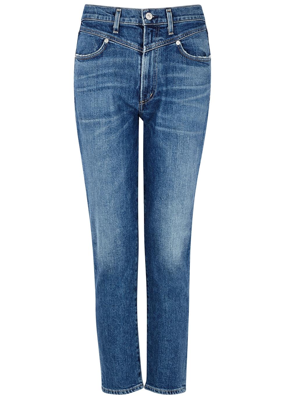 Mia blue slim-leg jeans