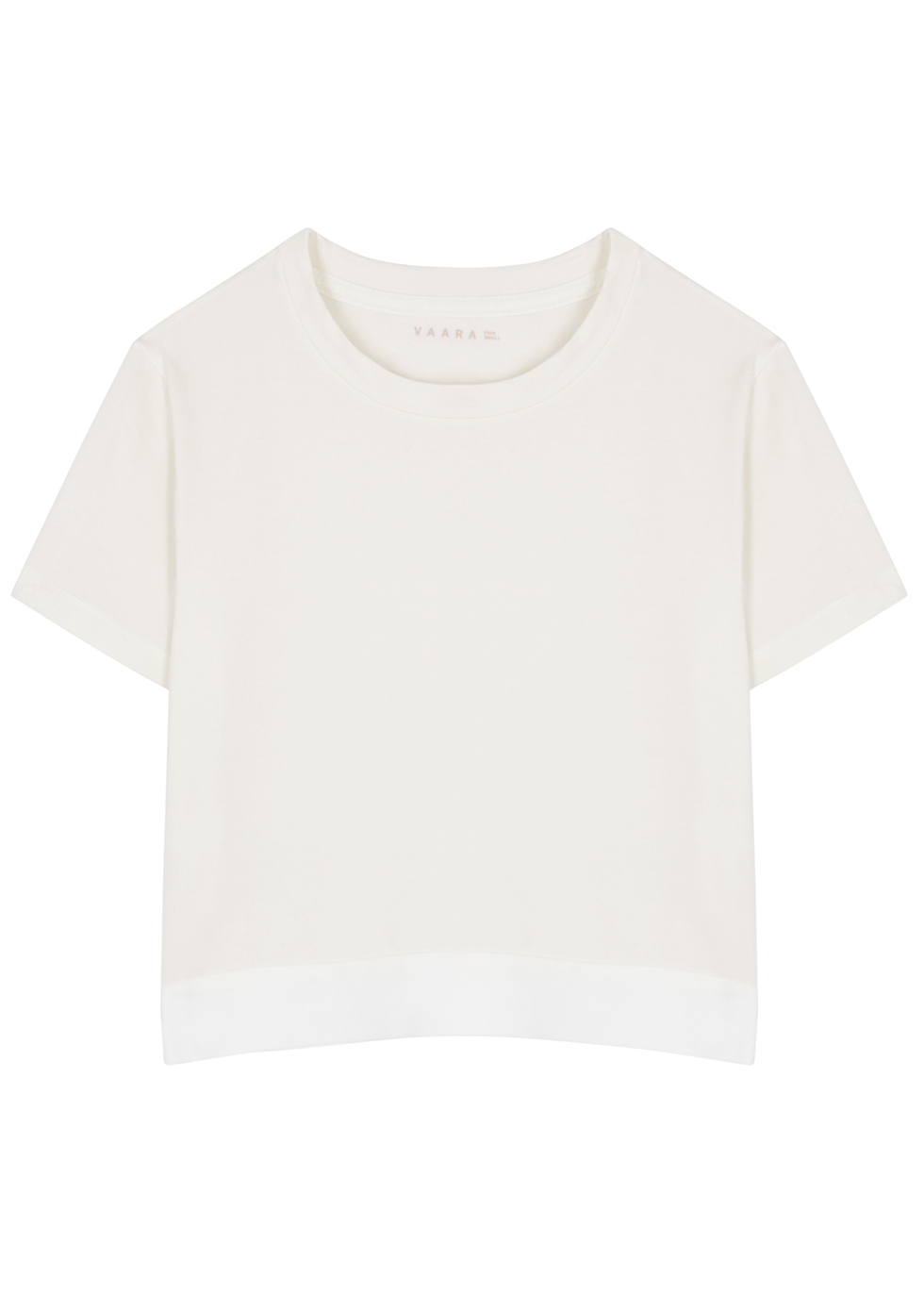 Finn ivory cropped stretch-jersey T-shirt