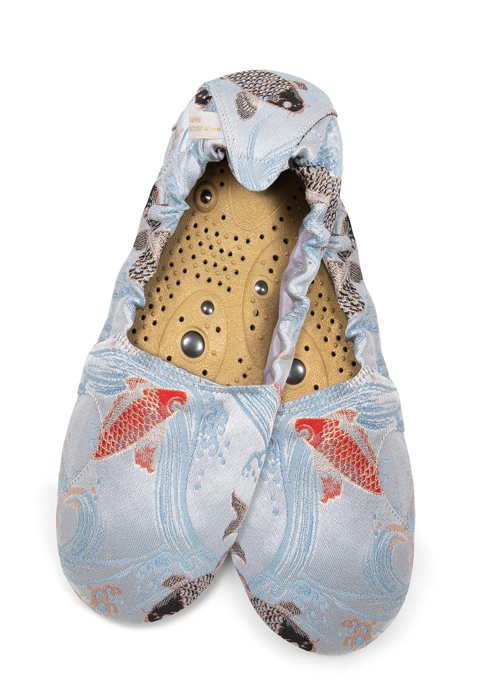 Carp Brocade Slippers