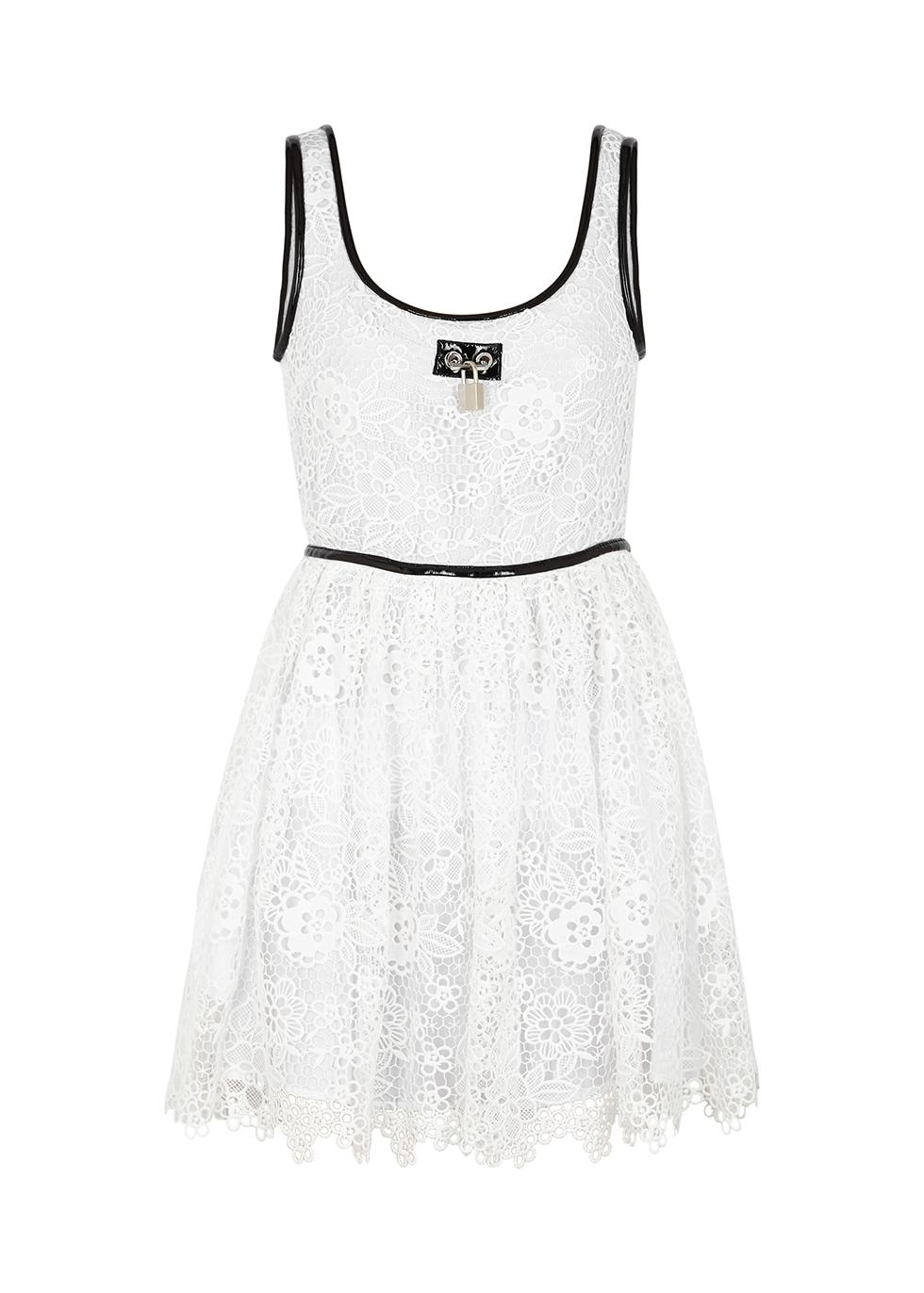 White broderie anglaise mini dress