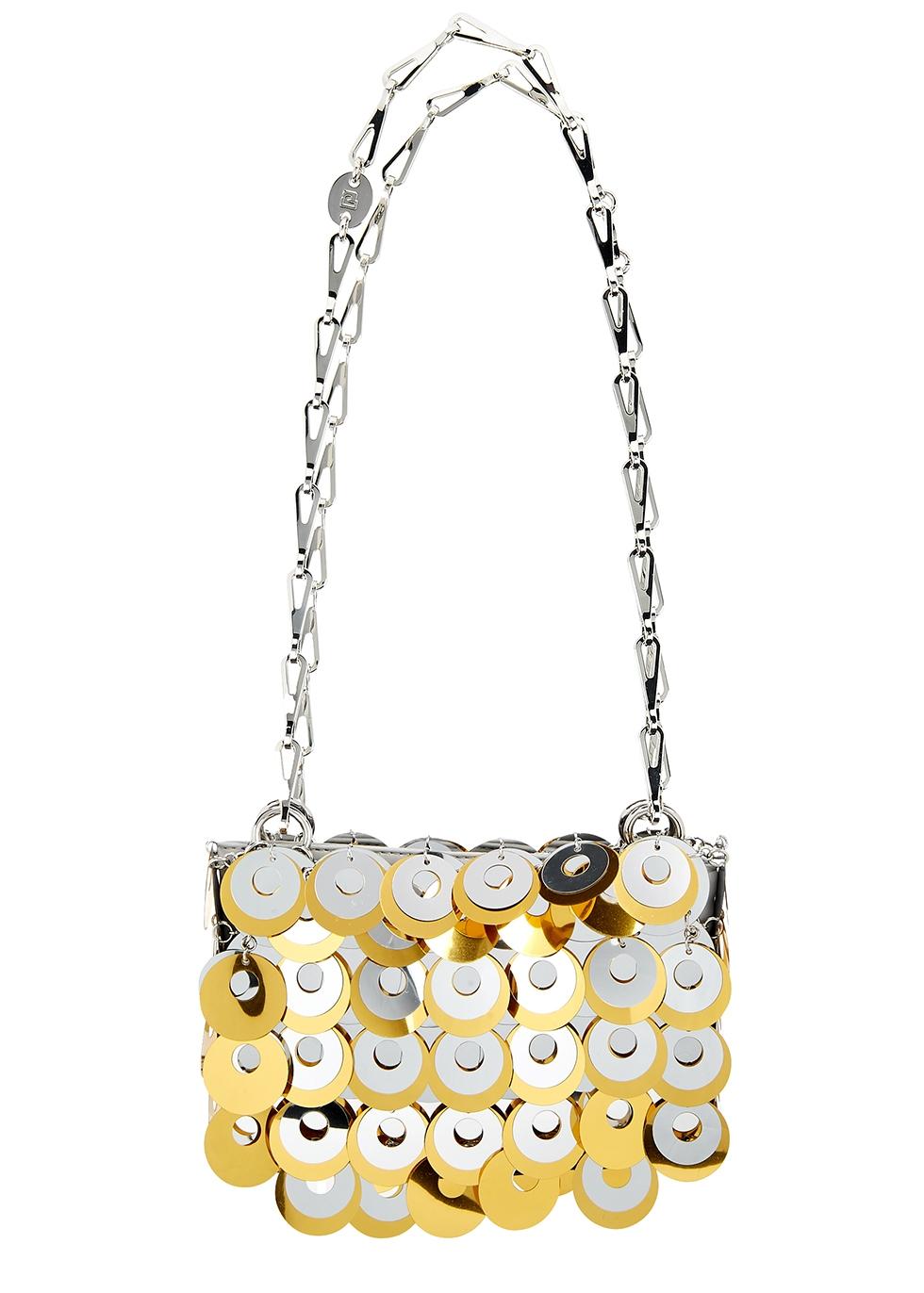 Sparkle Nano gold and silver-tone shoulder bag