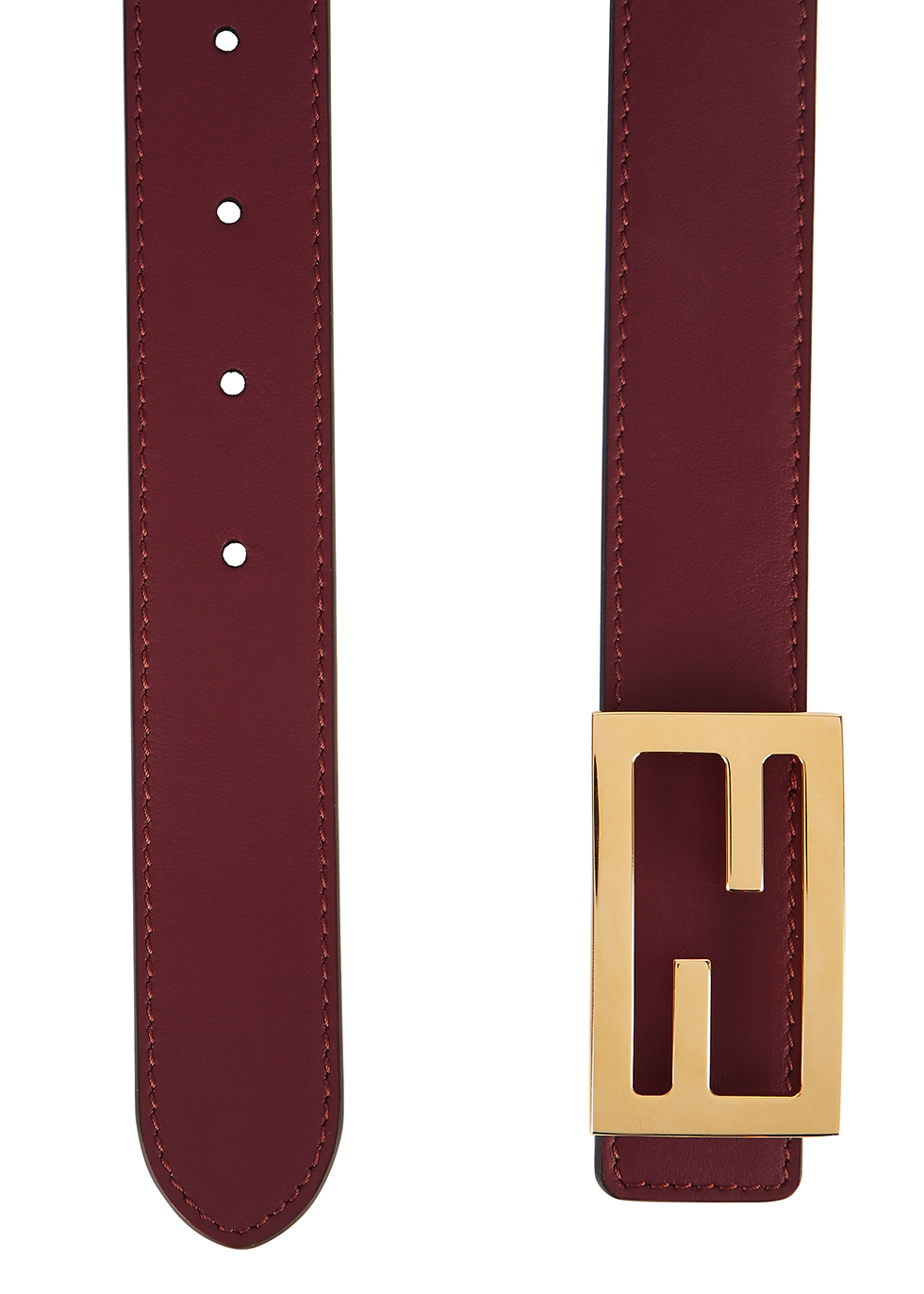 Fendi Burgundy reversible leather belt Harvey Nichols