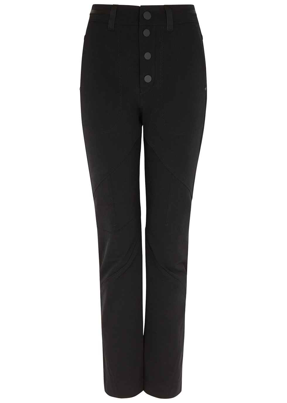 Wayward black slim-leg trousers