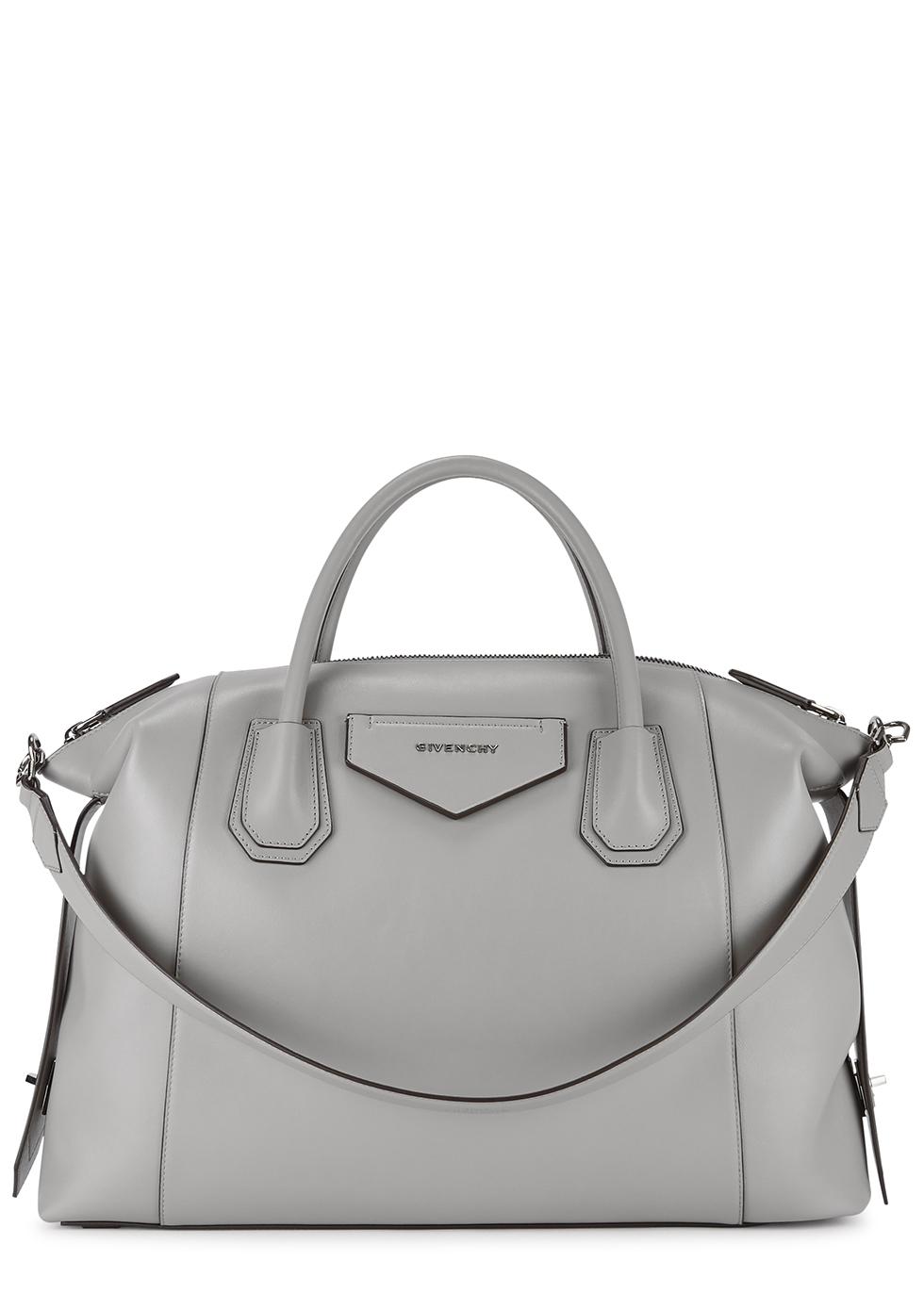 Antigona Soft medium grey leather tote
