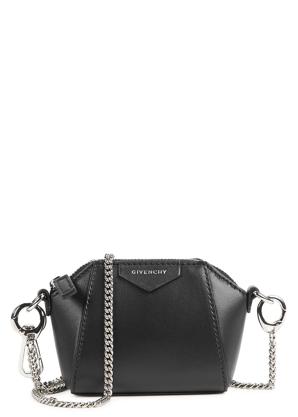Antigona Baby black leather cross-body bag