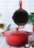 Cast iron 24cm round satin black casserole with free 23cm skillet - Le Creuset