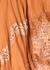 Orange lace-trimmed pleated chiffon midi skirt - Jonathan Simkhai