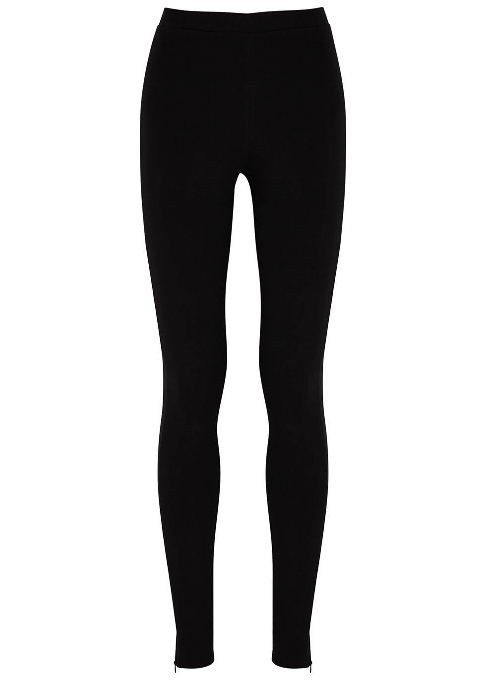 Cork black stretch-jersey leggings