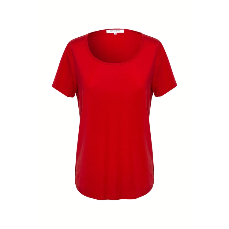 Gerard Darel Joy - Cupro T-shirt In Rouge Baiser