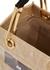 Mini sand raffia and PVC top handle bag - Marni