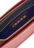 Beat two-tone leather cross-body bag - Marni