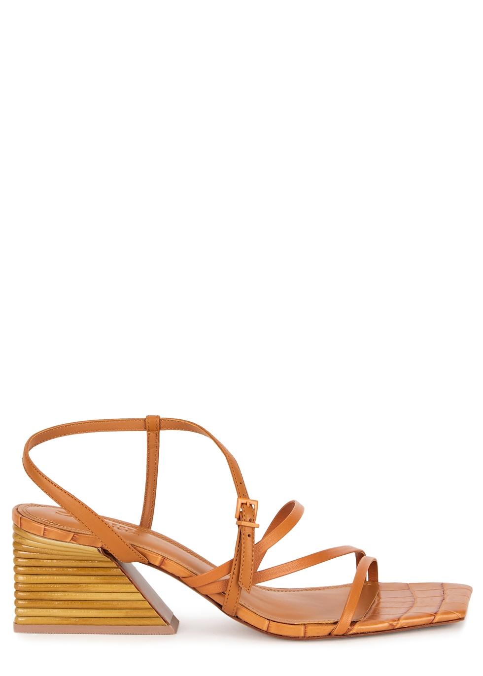 Kelsie 70 brown leather sandals