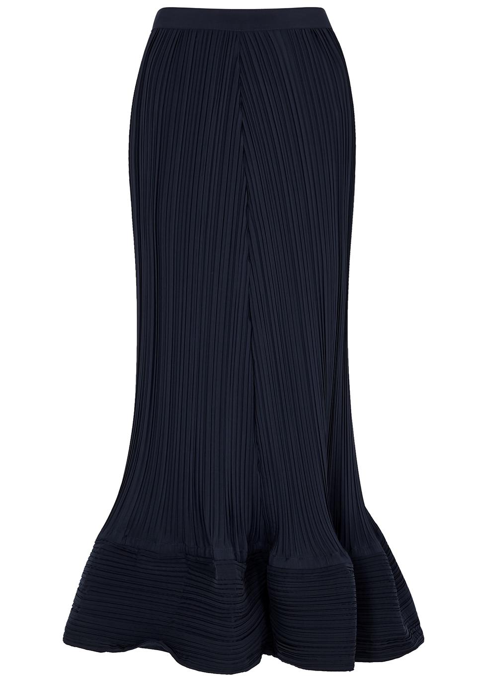 Navy plissé skirt