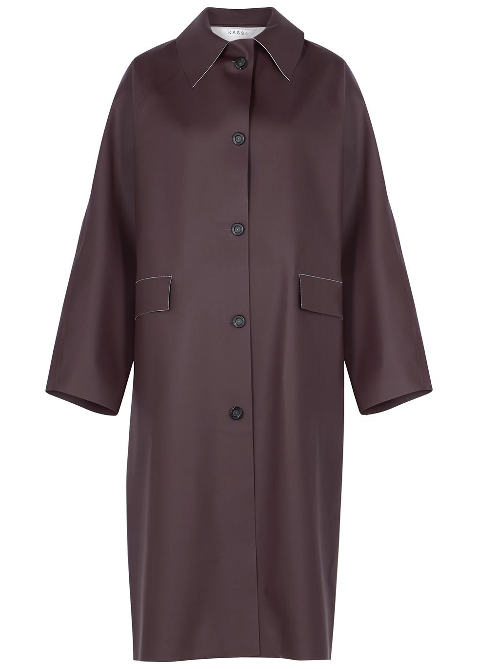 Original Below dark brown rubberised coat