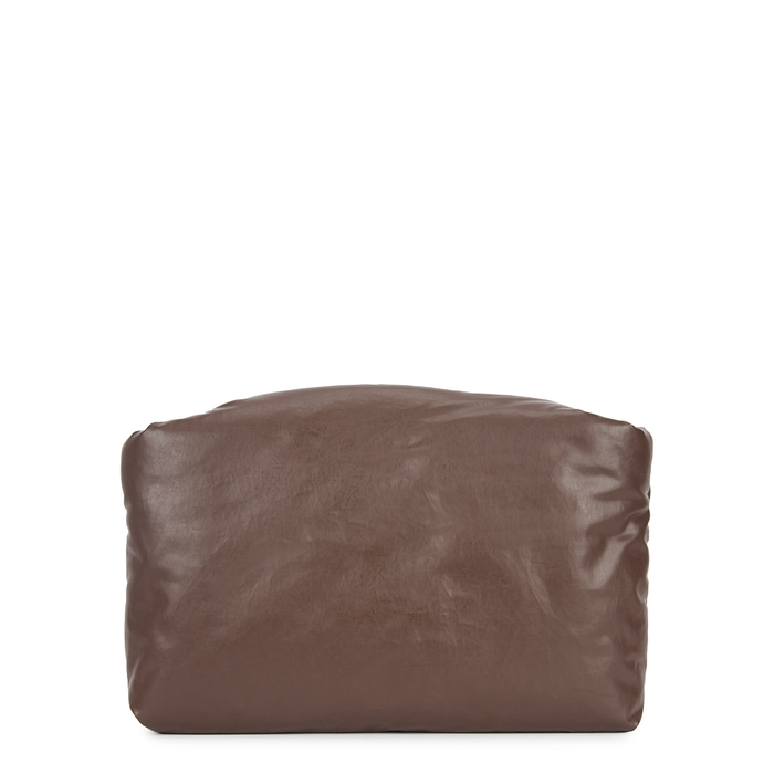 Kassl Editions OIL DARK BROWN PADDED COATED CLUTCH