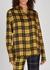 Tartan-print draped satin shirt - MONSE