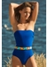 Porto cervo bandeau bandage one piece deep blue - Valimare