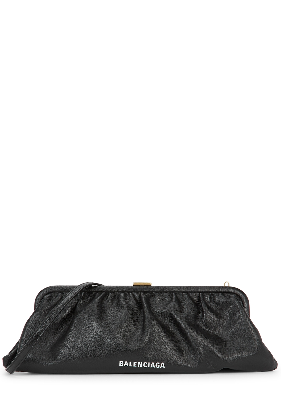Cloud XL black leather clutch