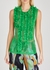 Hoser green ruffled tulle top - Dries Van Noten