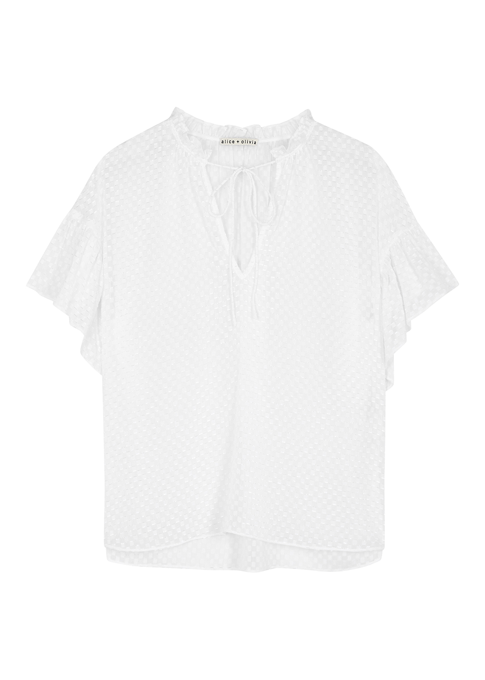 Julius white jacquard blouse