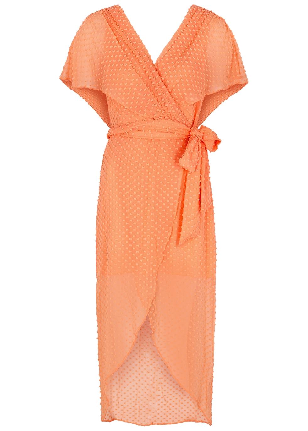 Darva wrap-effect silk-blend dress