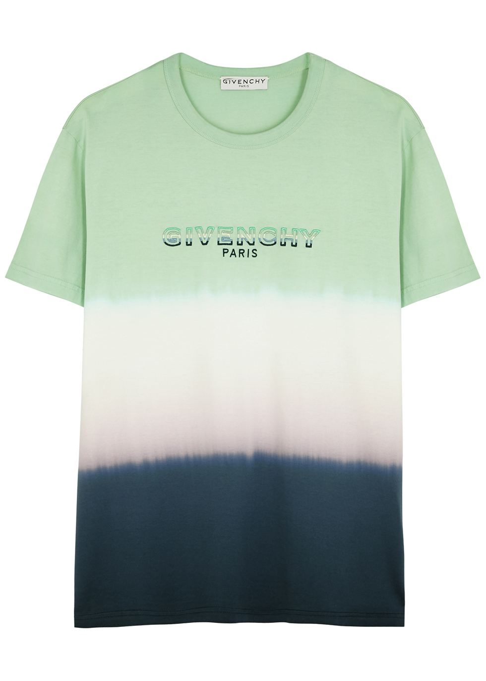 Tie-dyed logo cotton T-shirt