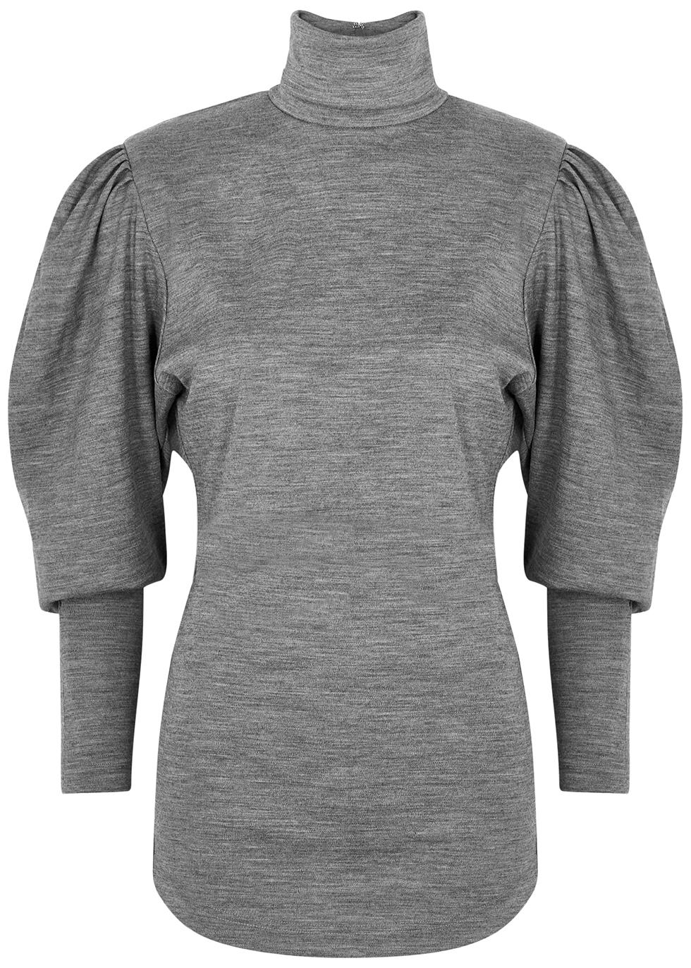 Gavina grey wool top