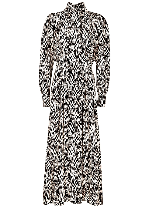 Ikena printed stretch-silk midi dress - Isabel Marant