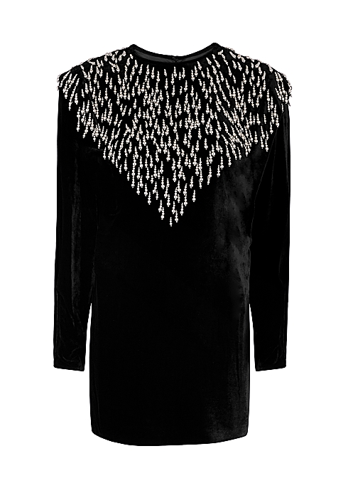 Gabasi embellished velvet mini dress - Isabel Marant