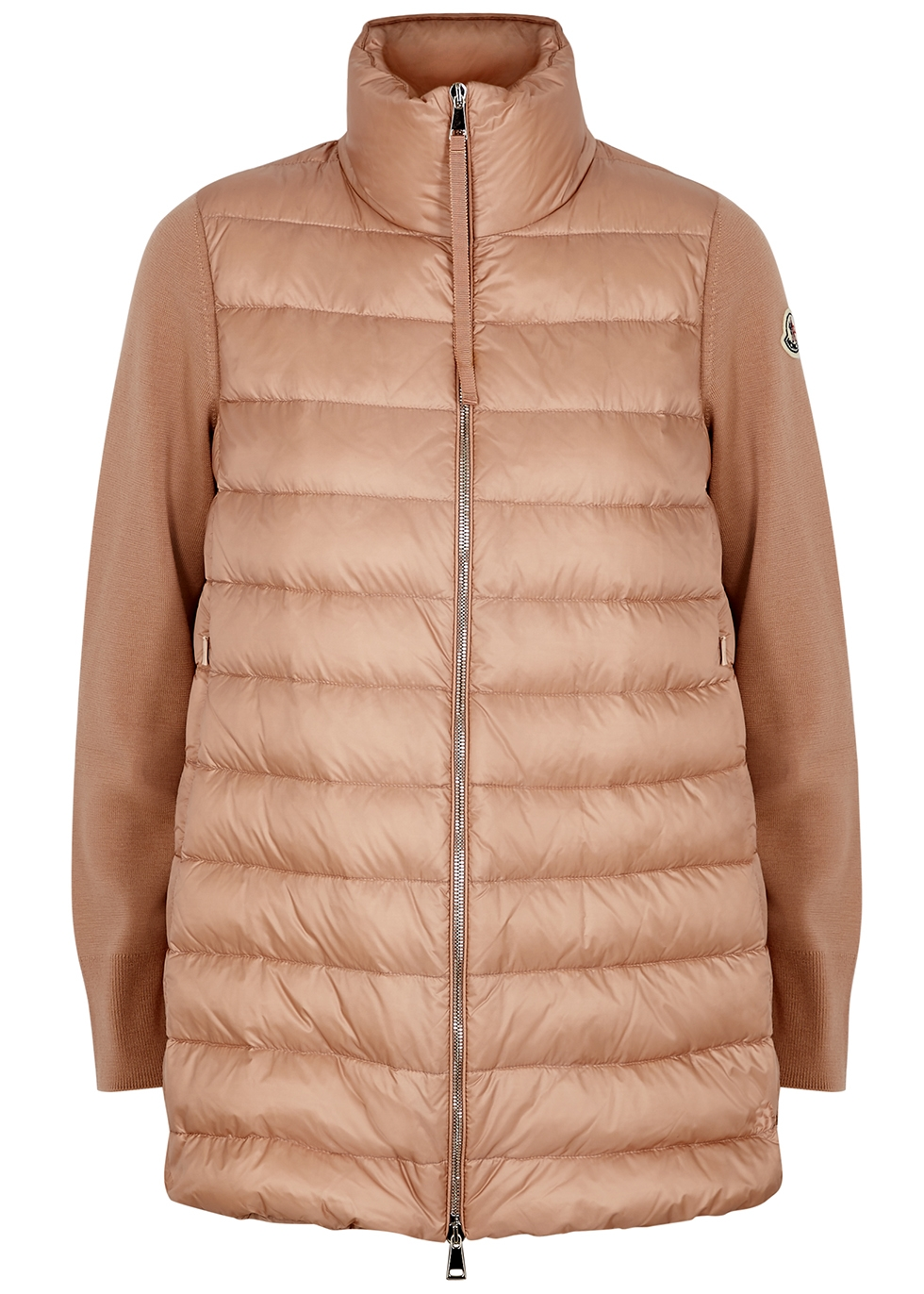 Tricot quilted shell and wool jacket