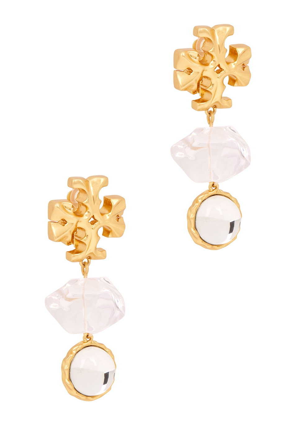 Roxanne 18kt gold-plated drop earrings