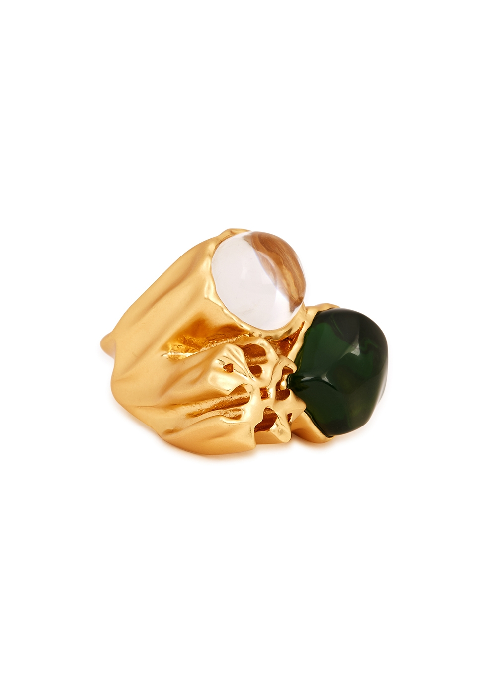 Roxanne 18kt gold-plated ring