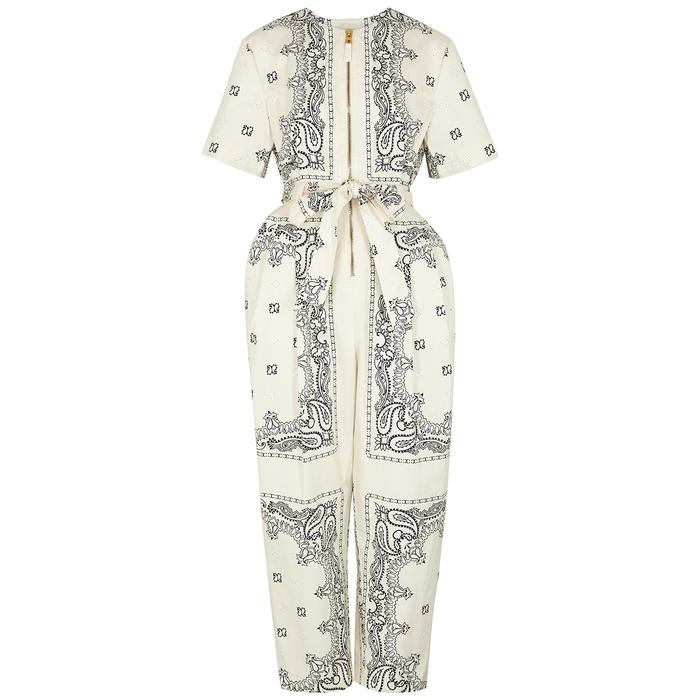 Tory Burch Cottons PRINTED COTTON JUMPSUIT