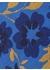 Carnation floral tie blue - DUCHAMP LONDON