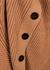 Camel ribbed wool-blend cardigan - Alexander McQueen