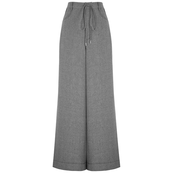 Dion Lee MARLE GREY WIDE-LEG TROUSERS