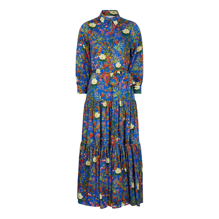 Borgo De Nor CLARISSA FLORAL-PRINT COTTON SHIRT DRESS