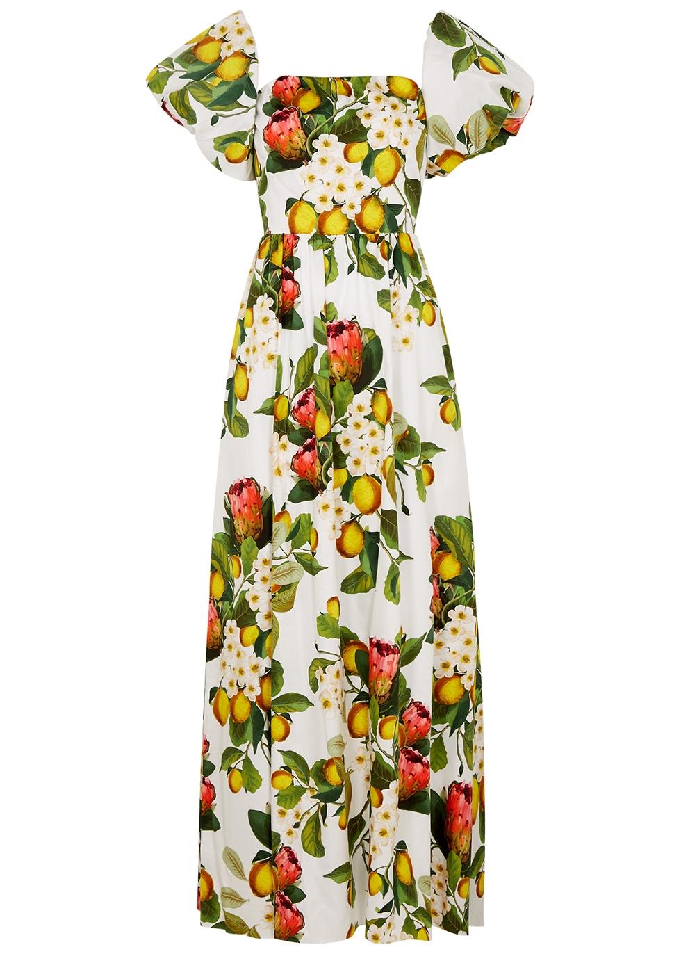 Juliet floral-print cotton maxi dress
