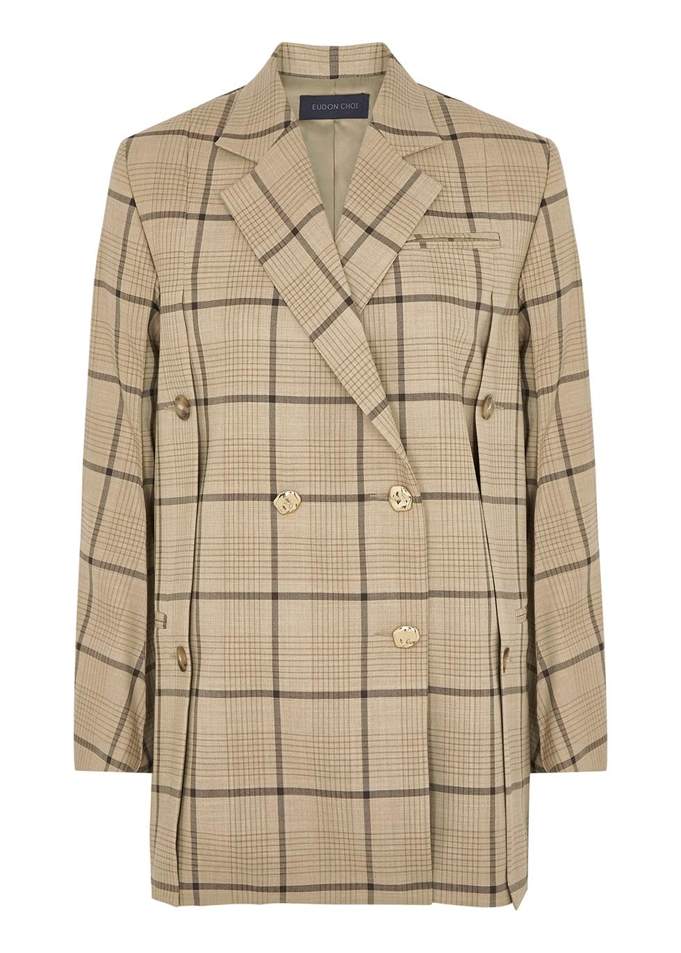 Beatrice checked stretch-wool blazer
