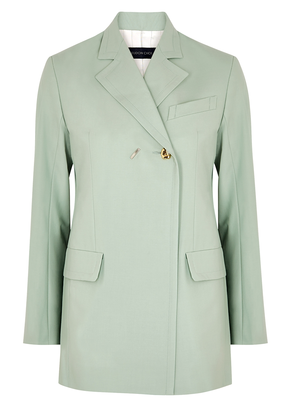 Mairin mint stretch-wool blazer