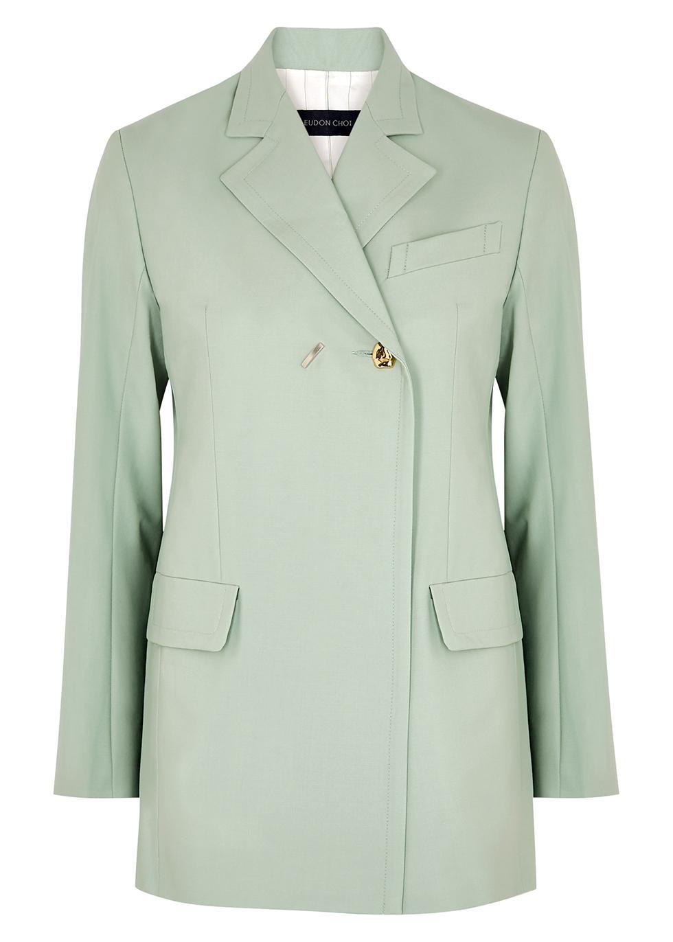 Mairin mint stretch-wool blazer