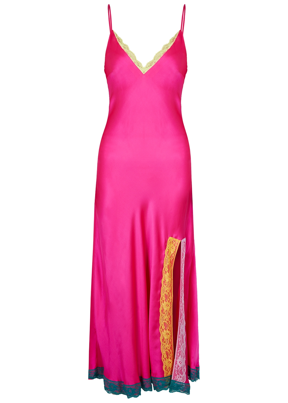 Veronica hot pink silk maxi dress