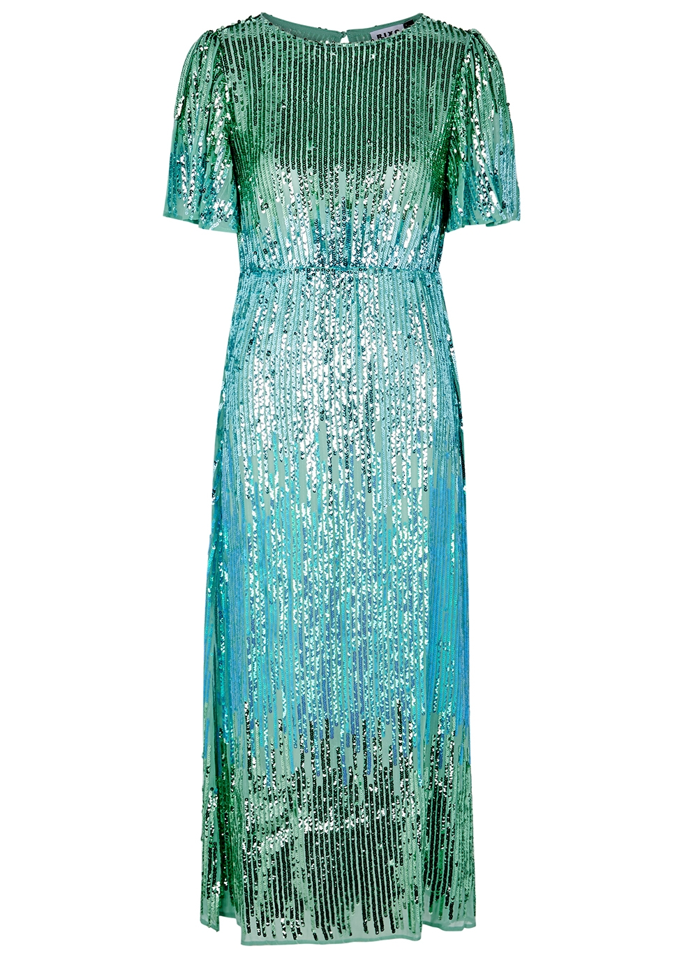 Venus sequinned chiffon midi dress