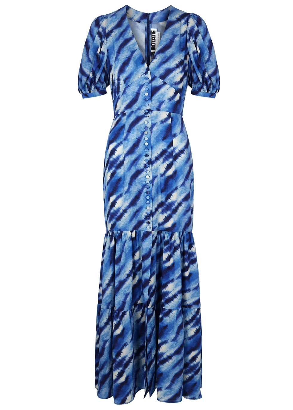 Thora blue printed maxi dress